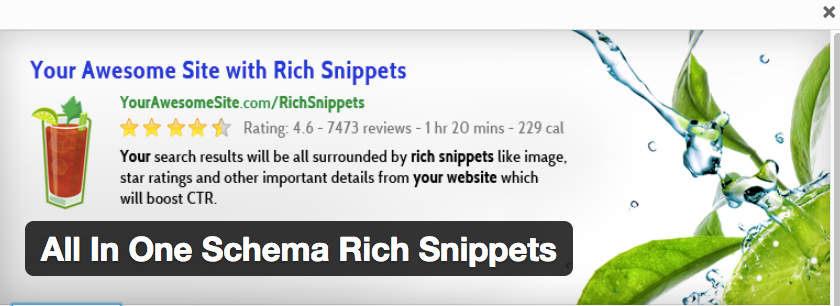 All in One Schema Rich Snippets plugin for Wordpress