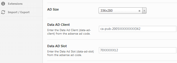 AMP for WP ad slot and data