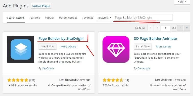 WordPress add plugins