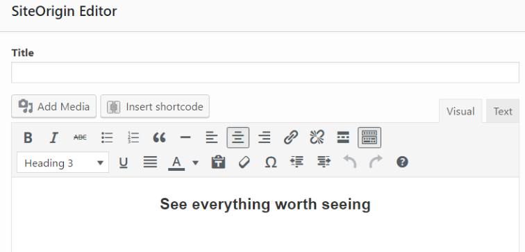 editor widget