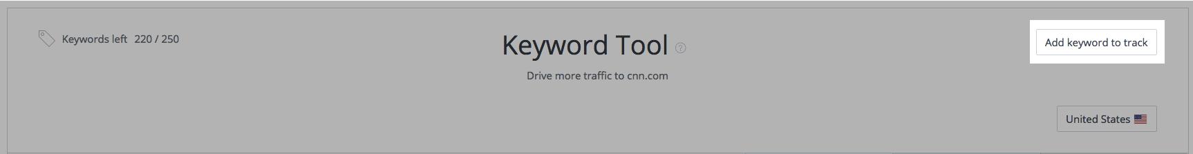 Keyword Tool - Add Keywords