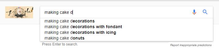 Google auto suggstion