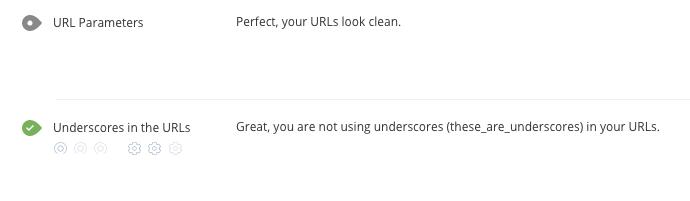 WooRank underscores in URL