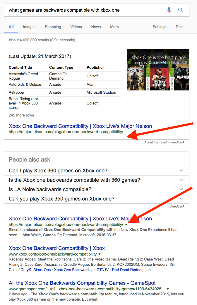 what games are backwards compatible SERP