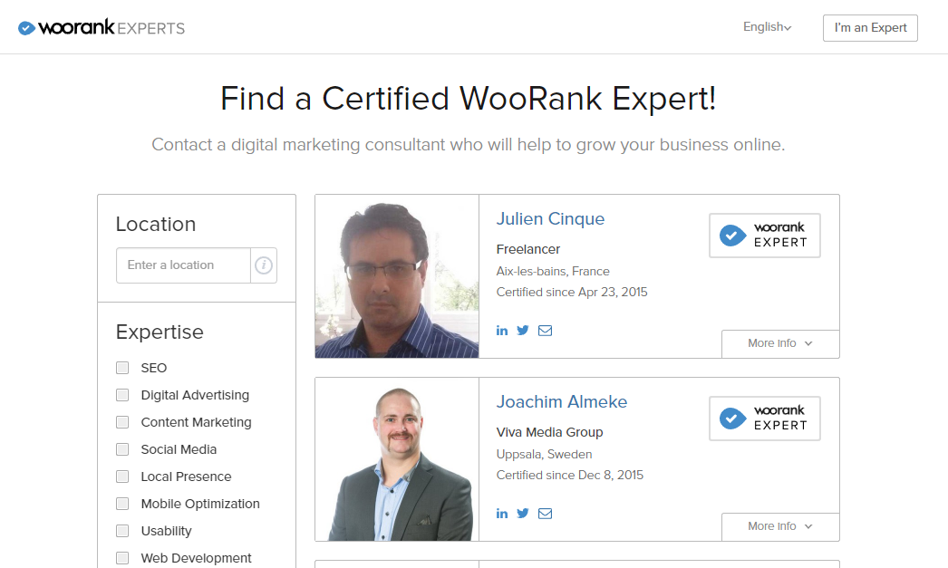 WooRank Experts Directory