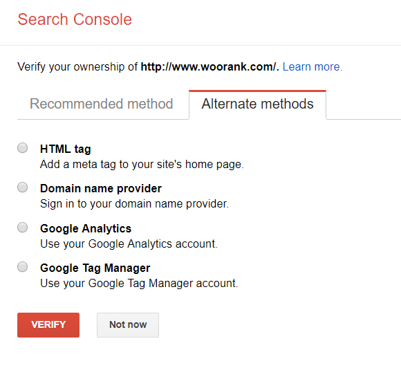 Claim your site in Google Search Console