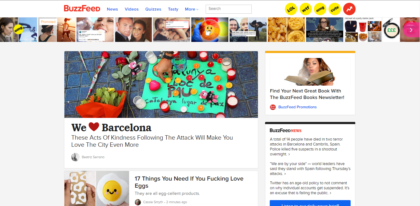 Buzzfeed's Desktop Design