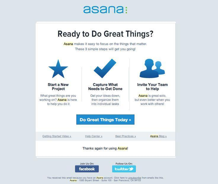 Asana email to inactive customers
