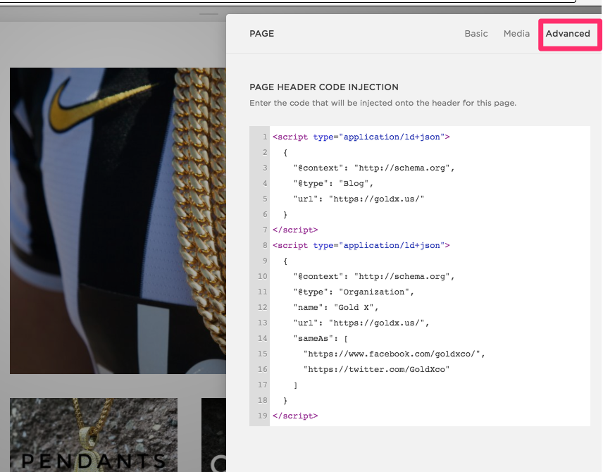 Add metadata to your Squarespace homepage