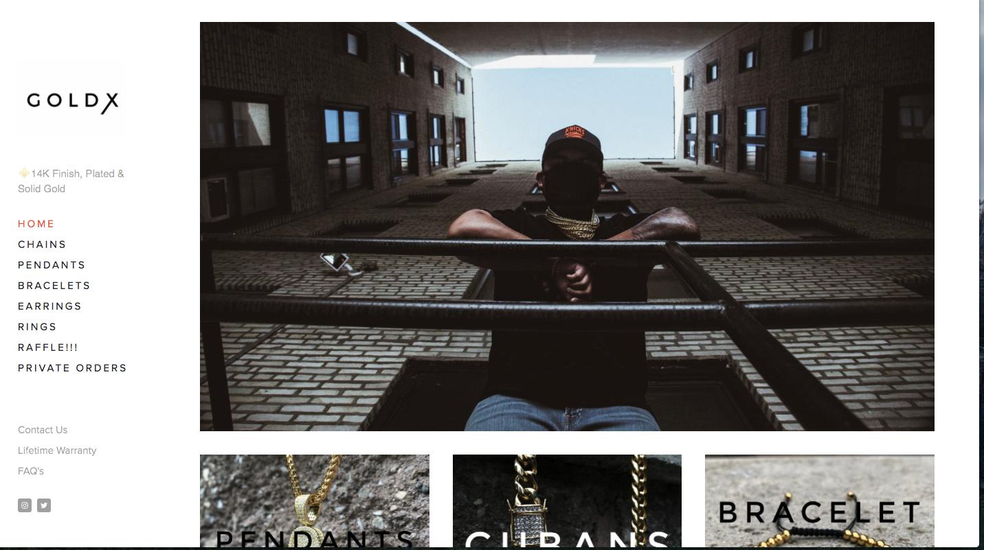 Goldx homepage
