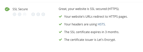 SSL Security audit criteria