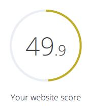 WooRank SEO Score before optimization