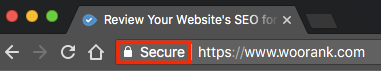 Click secure in the browser field to check certificate