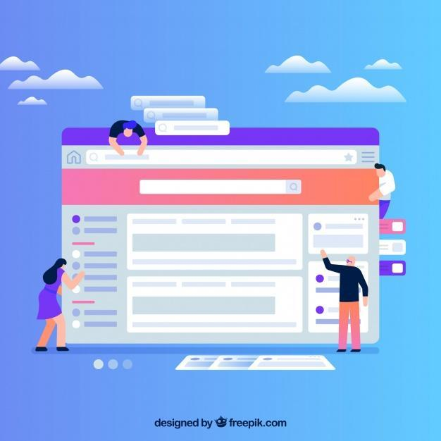 Rebranding your website cartoon