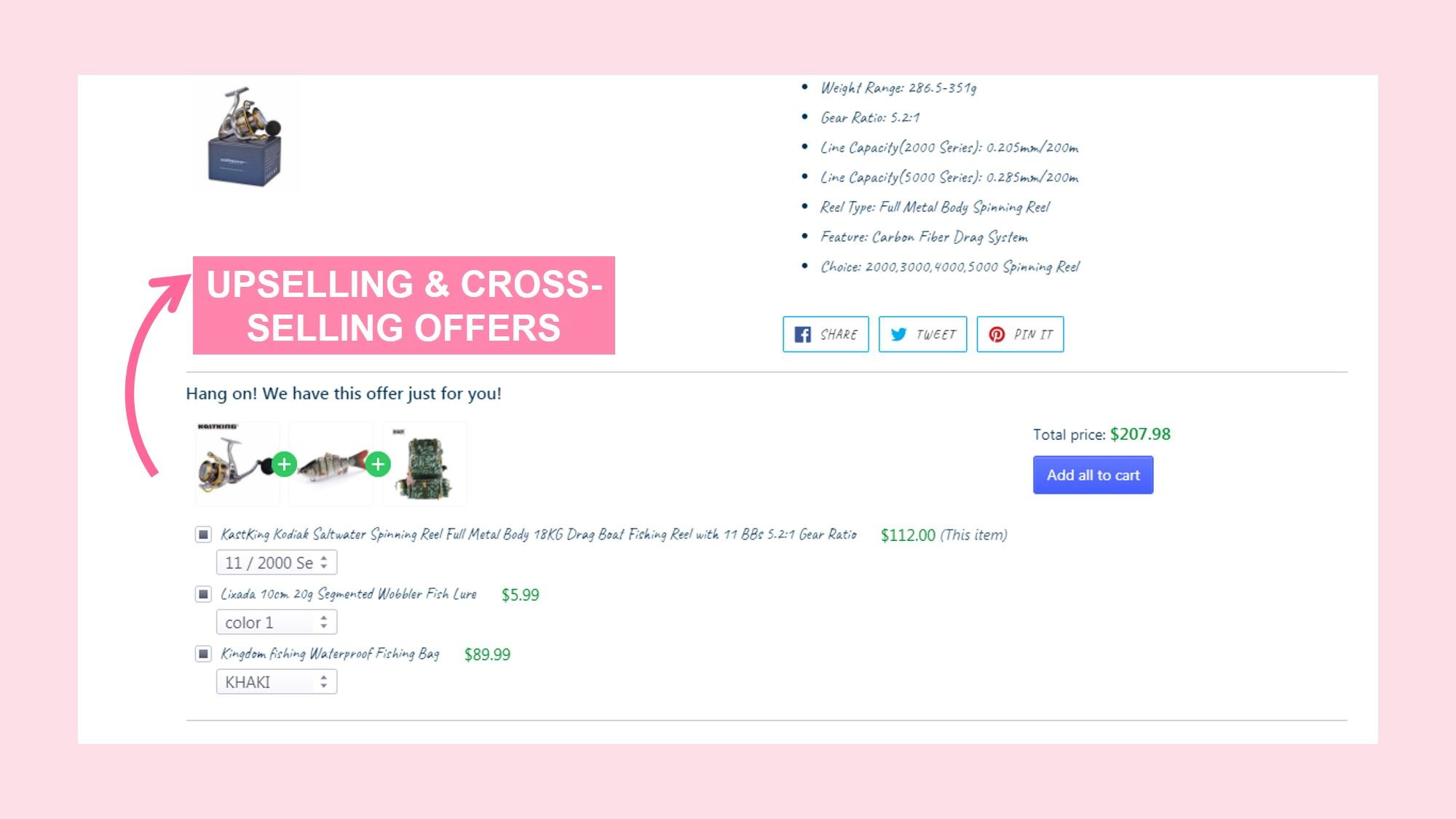 Cross-sell feature by Boost Sales