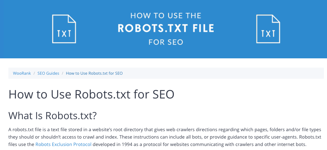 WooRank's robots.txt SEO Guide