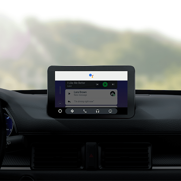 Android Auto on car dashboard