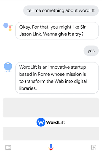 Sir Jason Link answering questions about WordLift via implicit discovery