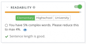 webtexttool checks readability and complexity of your content automatically