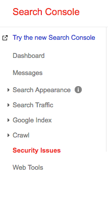 Security Issues identified in Google Search Console