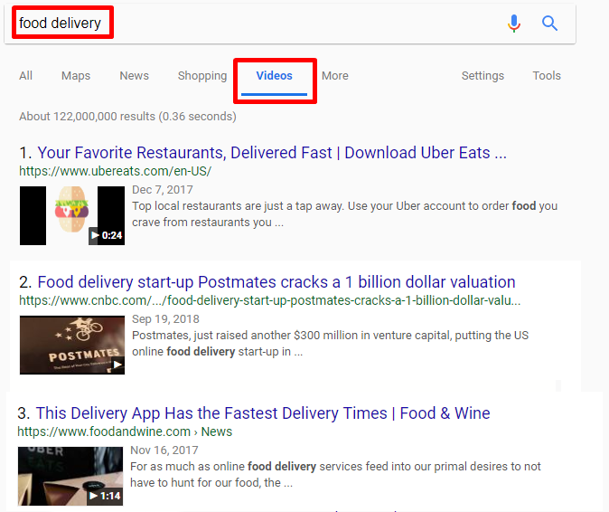 Optimize content for video search results
