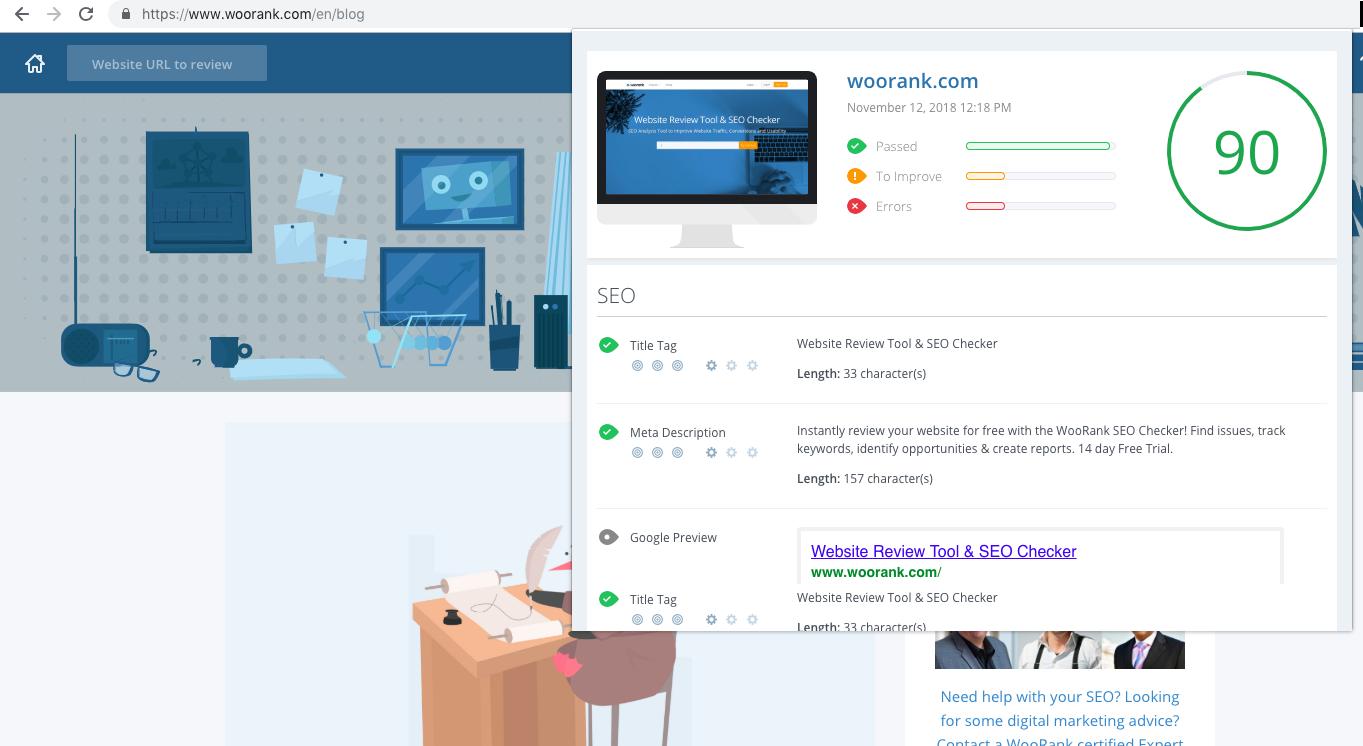 WooRank Extension