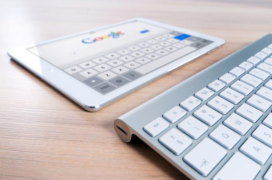 Stock Google photo wth keyboard