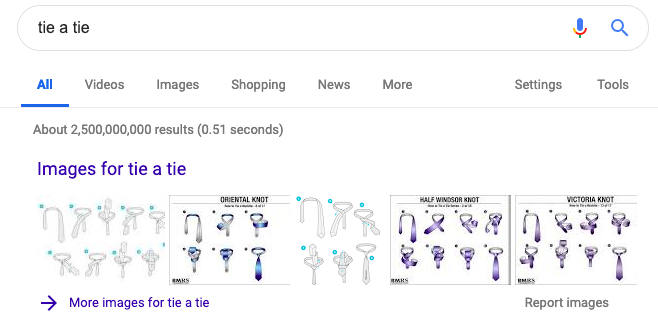 Google image results SERP feature