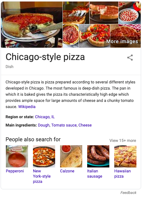 Google Knowledge Graph panel SERP feature