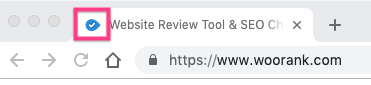 WooRank favicon in Google Chrome tab