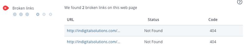 Checking for broken links