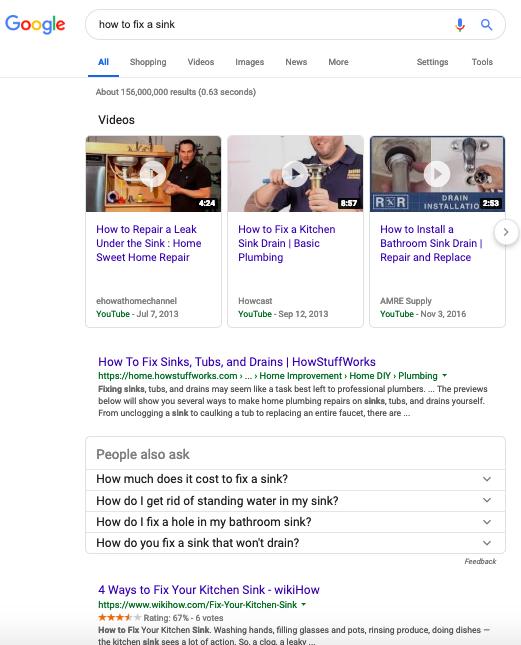 Non-localized search results