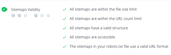 Validate sitemap syntax and structure