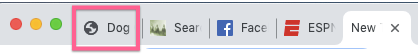 Default favicon in browser tabs