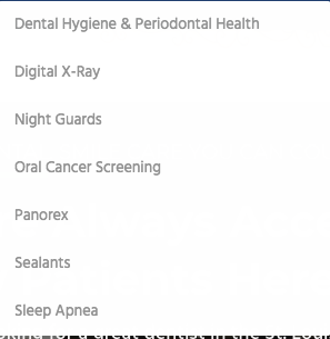 Dentist office preventive care keyword opportunities