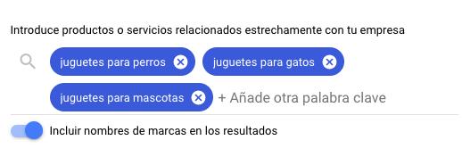 Planificador de palabras clave de Google