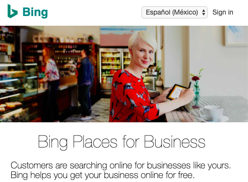Bing Places Spain