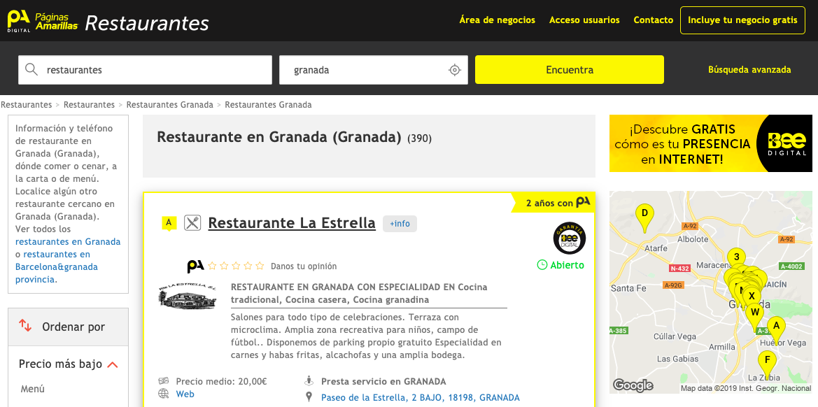 Paginasamarillas.es Online Yellow Pages for Local Businesses in Spain