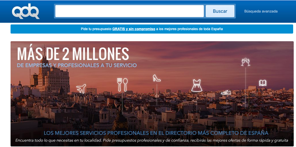QDQ Free Business Directory for Local Businesses in Spain