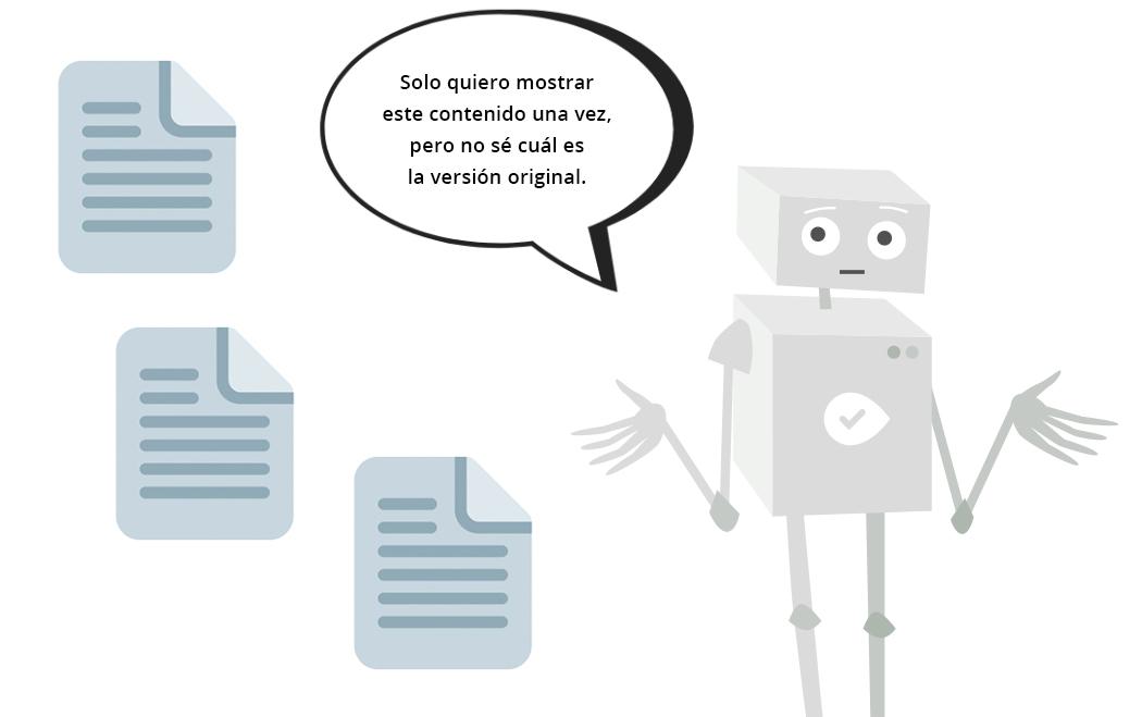 Robot confundido por páginas duplicadas
