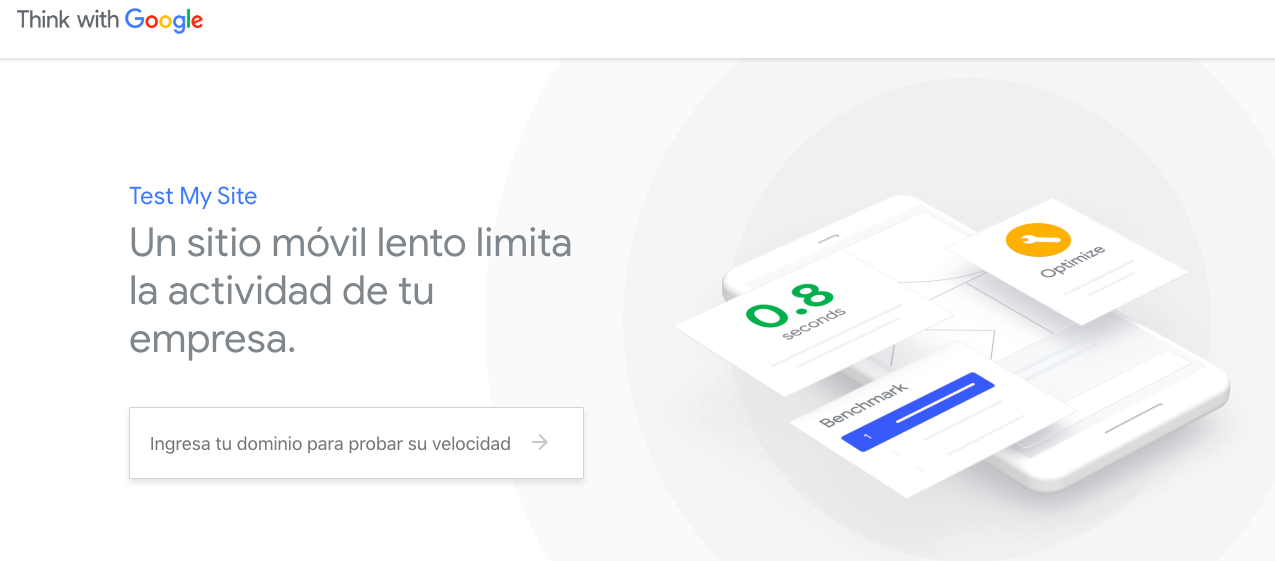 Test de velocidad movil de Google