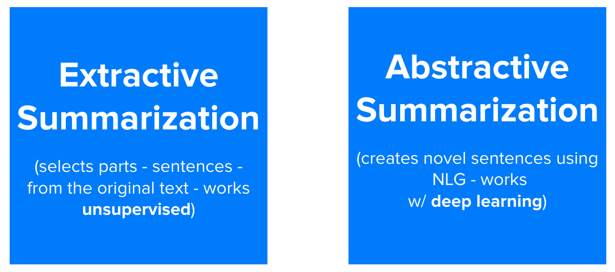 Extractive Summarization vs. Abstractive Summarization