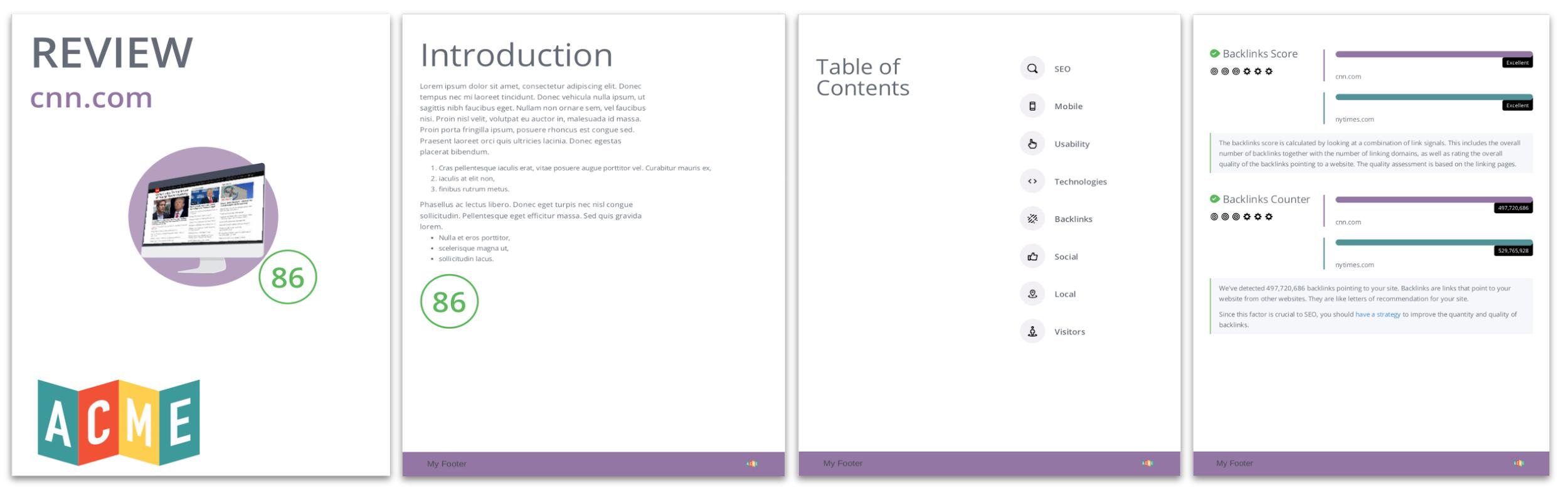 Example of new WooRank modern PDF theme