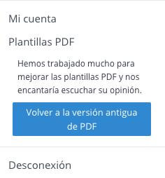 Botón de volver a la versión antigua de PDF en WooRank
