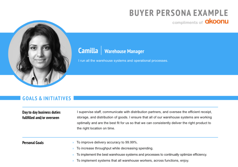 Example of a buyer persona