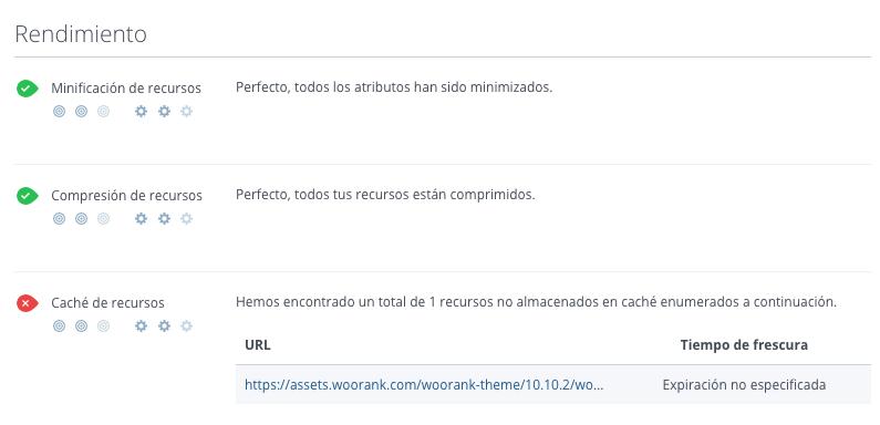 Minificacion, compresion y cache en WooRank
