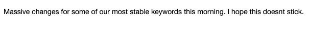 Formerly stable keywords losing ranking