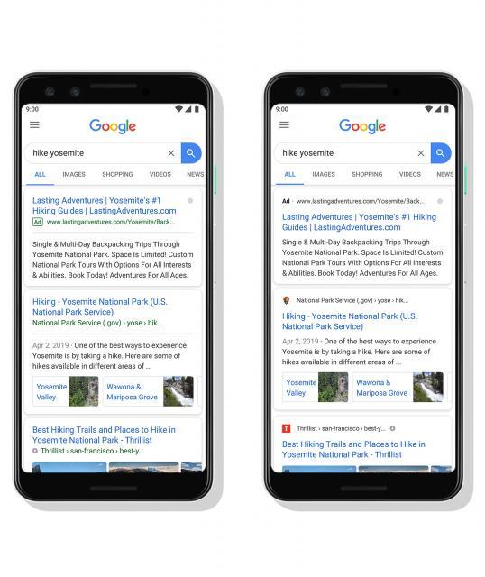 Favicons en resultados de busqueda moviles - Google