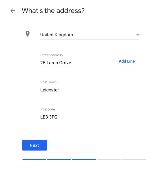 Adding your address to Google My Business
