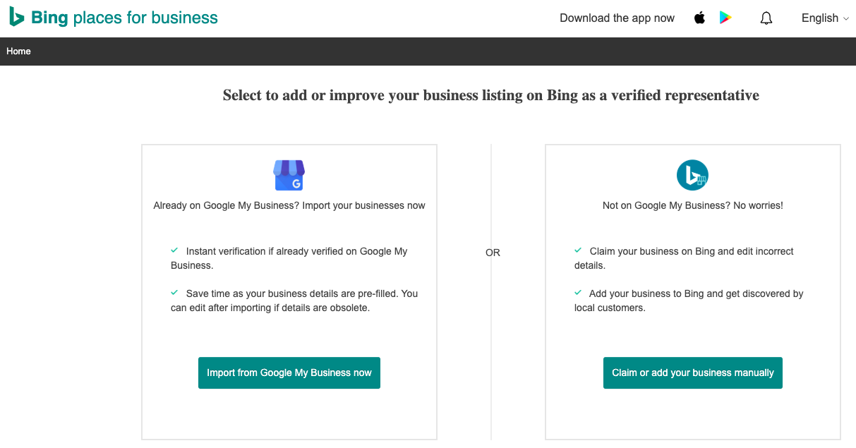 Bing Places Google My Business Import